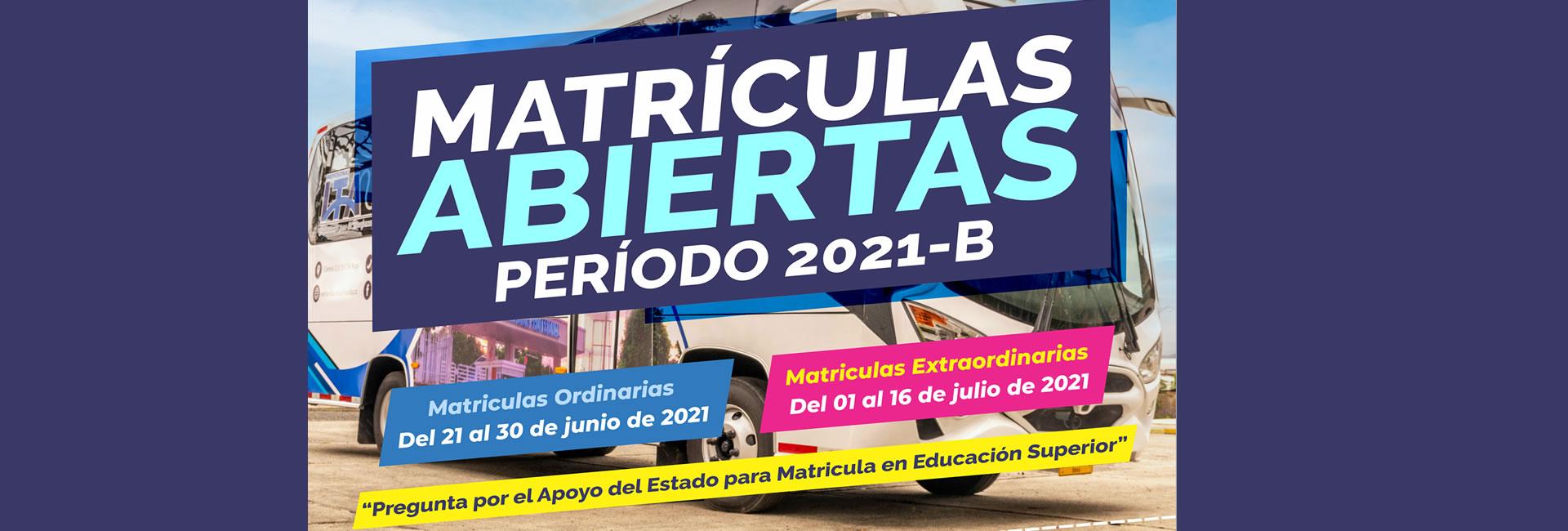Inscripciones abierta 2021B